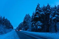 De winterreis Royalty-vrije Stock Fotografie