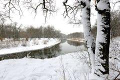 De winterrivier Royalty-vrije Stock Foto
