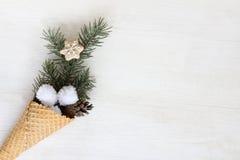 De winterroomijs voor de vakantie Stock Afbeelding
