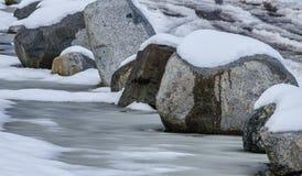 De winterrotsen Royalty-vrije Stock Afbeeldingen