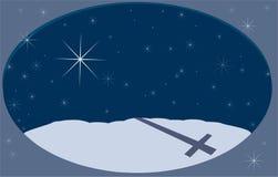 De winters Night2 Stock Afbeeldingen