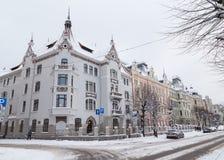 De winters in Riga, Letland royalty-vrije stock foto