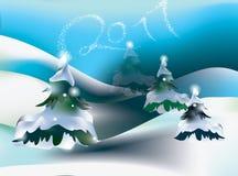 De winterscène 2011 van de vakantie   Stock Foto