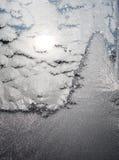De winterscène door Jack Frost wordt geschilderd dat Royalty-vrije Stock Foto