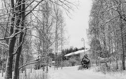 De winterscène in Finland Royalty-vrije Stock Afbeelding
