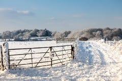 De winterscène in het Oosten Grinstead Stock Fotografie