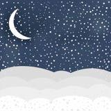 De winterscène in vector stock illustratie