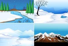 De winterscènes Stock Afbeelding