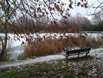De wintersmeer royalty-vrije stock afbeeldingen