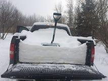 De wintersneeuw stock afbeelding