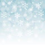De wintersneeuw of sneeuwvlok Royalty-vrije Stock Fotografie