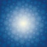 De wintersneeuw of sneeuwvlok Stock Afbeeldingen