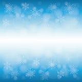 De wintersneeuw of sneeuwvlok Royalty-vrije Stock Foto