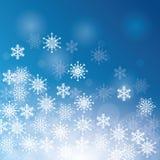 De wintersneeuw of sneeuwvlok Stock Afbeelding