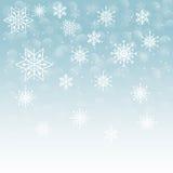 De wintersneeuw of sneeuwvlok Royalty-vrije Stock Foto's