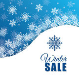De wintersneeuw of sneeuwvlok Royalty-vrije Stock Afbeelding