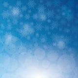 De wintersneeuw of sneeuwvlok Stock Fotografie
