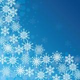 De wintersneeuw of sneeuwvlok Stock Foto
