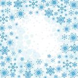 De wintersneeuw of sneeuwvlok Stock Foto's