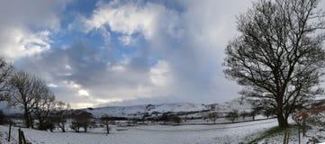De wintersneeuw van Castleton, Piekdistrict, het UK Royalty-vrije Stock Afbeeldingen