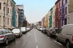 De wintersneeuw van Londen Stock Afbeelding