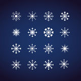 De wintersneeuwvlokken, Vlak ontwerp, pictogram, s Royalty-vrije Stock Fotografie