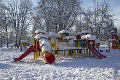 De winterspeelplaats Royalty-vrije Stock Afbeeldingen
