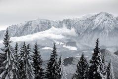 De wintersprookje in de bergen Royalty-vrije Stock Afbeelding