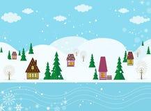 De wintersprookjesland Stock Foto's