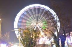 De wintersprookjesland Ferris Wheel Stock Foto's