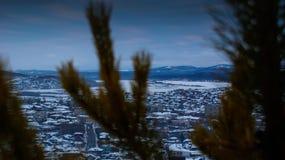 De winterstad Royalty-vrije Stock Afbeeldingen