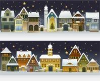 De winterstad royalty-vrije illustratie