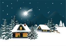 De winterstad vector illustratie