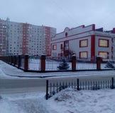 De winterstad Stock Foto's