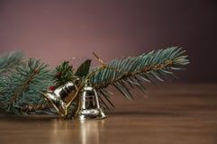 De winterthema met decoratie Royalty-vrije Stock Foto's