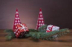 De winterthema met decoratie Stock Foto