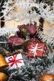De winterthema met lichte achtergrond Royalty-vrije Stock Foto's