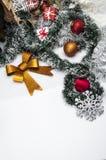 De winterthema met lichte achtergrond Royalty-vrije Stock Afbeelding