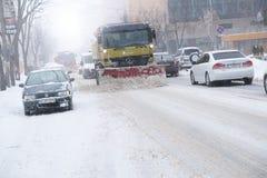 De wintertijd in de stad Stock Afbeeldingen