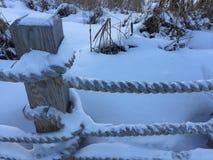De wintertijd in Toronto, Canada Stock Foto's