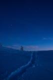 De tijd van de avond in bergen Royalty-vrije Stock Afbeelding