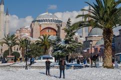 De wintertoerisme Stock Afbeelding