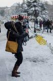 De wintertoerisme II Stock Afbeeldingen