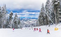 De wintertoevlucht in Brasov Roemenië Royalty-vrije Stock Afbeelding