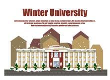 De winteruniversiteit Royalty-vrije Stock Foto's