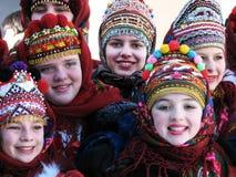 De wintervakantie in Carpathians_2 Stock Afbeeldingen