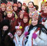 De wintervakantie in Carpathians_3 Stock Fotografie