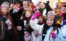 De wintervakantie in de Karpaten Royalty-vrije Stock Fotografie