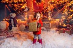 De wintervakantie voor kinderen royalty-vrije stock fotografie