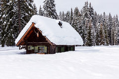 De wintervakantiewoning Royalty-vrije Stock Afbeelding